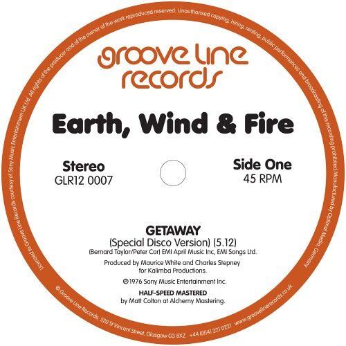 Earth|Wind & Fire - Getaway (Special Disco Version) / Getaway (Instrumental) - GLR120007 - GROOVE LINE RECORDS