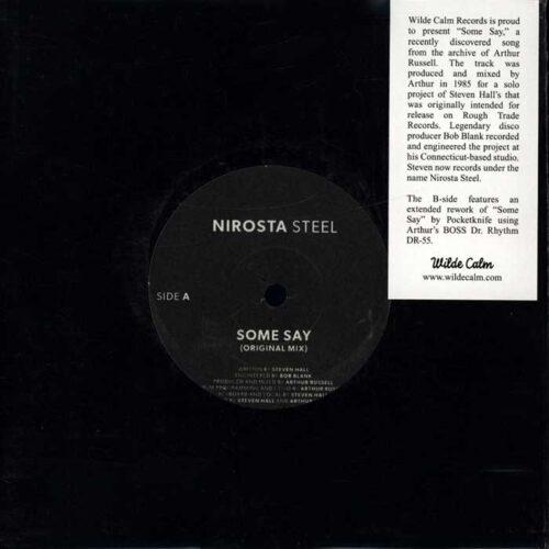 Nirosta Steel - Some Say - WC-004 - WILD CALM