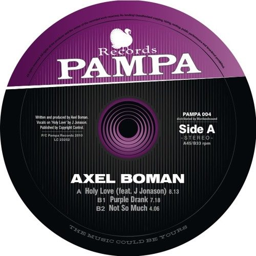 Axel Boman - Holy Love - PAMPA004 - PAMPA