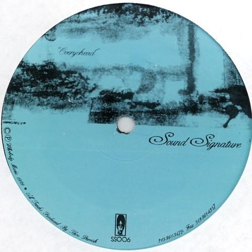 Theo Parrish - Overyohead/Song Of The Drunken Drums - SS006 - SOUND SIGNATURE