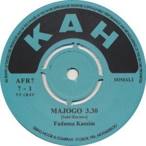 Faduma Kassim - Majogo - AFR7-7-1 - AFRO7 RECORDS