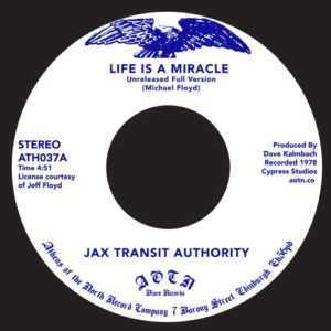 Jax Transit Authority - Life Is A Miracle - ATH037 - ATHENS OF THE NORTH