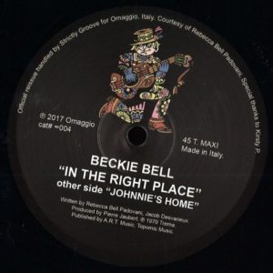 Beckie Bell - In The Right Place - OMAGGIO004 - OMAGGIO