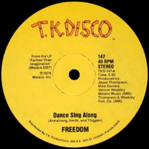 Freedom - Dance Sing Along - TKD147 - TK DISCO