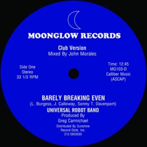Universal Robot Band ‎ - Barely Breaking Even - Full 12:45 John Morales Mix - KINF004 - KINFINE