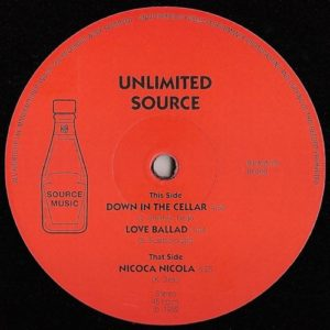 Unlimited Source - Down In The Cellar Ep - BK008 - BACKATCHA RECORDS