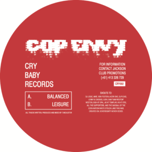 Cop Envy - Balanced/Leisure - CRY02 - CRY BABY RECORDS