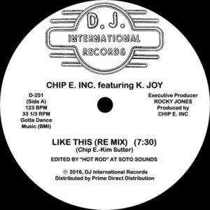 Chip E - Like This - DJ251 - DJ INTERNATIONAL