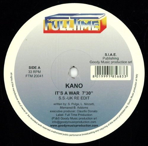 Kano - It's A War / Ikeya Seki - FTM20041 - FULLTIME PRODUCTION