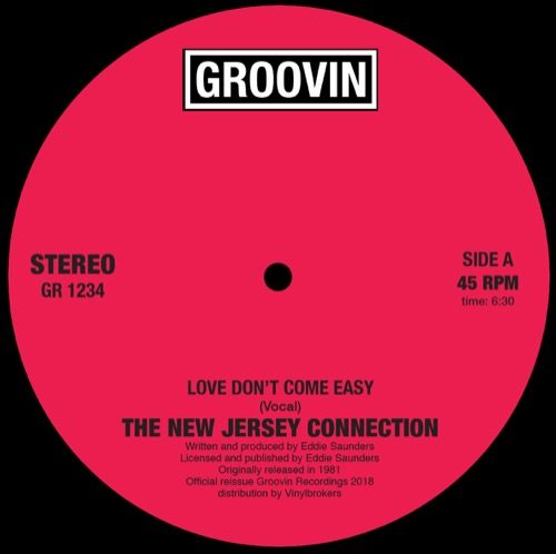 New Jersey Connection - Love Don't Come Easy - GR1234 - GROOVIN RECORDs