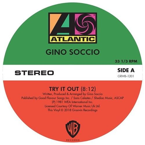 Gino Soccio - Try It Out / Dancer / It's Alright - GRWB1201 - GROOVIN RECORDs