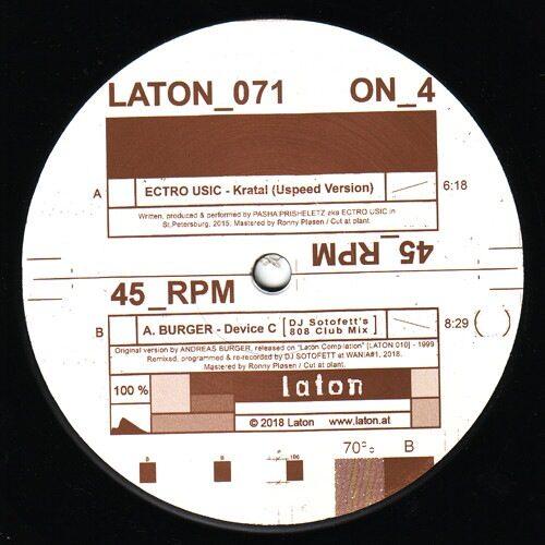 A.Burger|Ectro Usic - Kratal / Device C (DJ Sotofett's 808 Club Mix) - LATON071 - laton