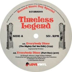 Timeless Legend - Everybody Disco - LV12RSD01 - LOVE VINYL