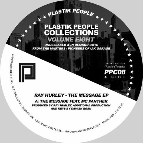 Ray Hurley - The Message Ep - PPC08 - PLASTIK PEOPLE RECORDINGS