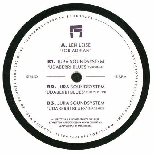 Len Leise/Jura Soundsystem - Dear Adrian/Udaberri Blues - TEMPLE001 - TEMPLES OF JURA