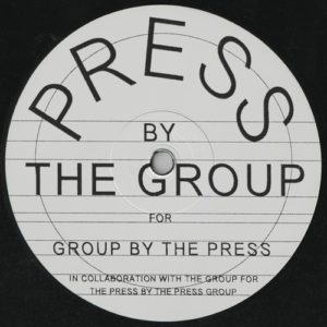Various - Press By The Group For Group By The Pres - TPG004 - THE PRESS GROUP