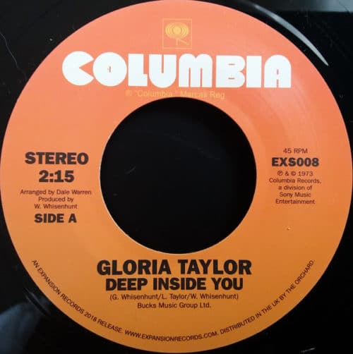 Gloria Taylor - Deep Inside You/World That's Not Real - EXS008 - EXPANSION