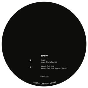 Happa - Argot ( Parris / Kowton Rmxs ) - FNORD007 - FNORD COMMUNICATIONS