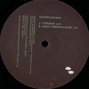 Mathew Jonson - Typerope Ep - IIWII007 - Itiswhatitis