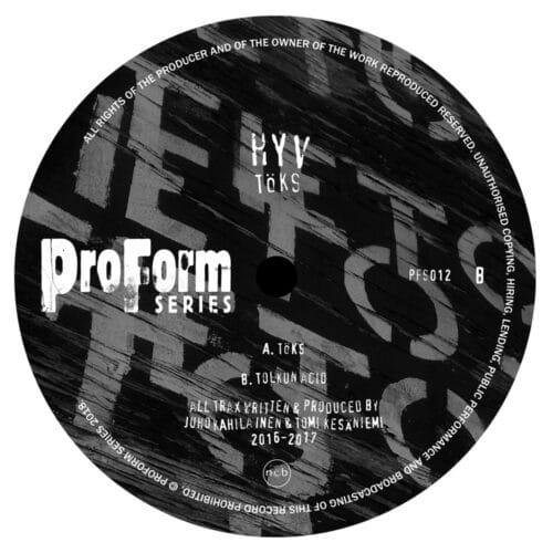 HYV - TÖKS - PFS012 - PROFORM SERIES