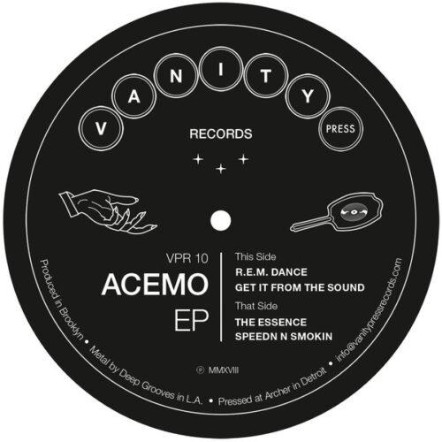 Acemo - Acemo Ep - VPR-10 - VANITY PRESS