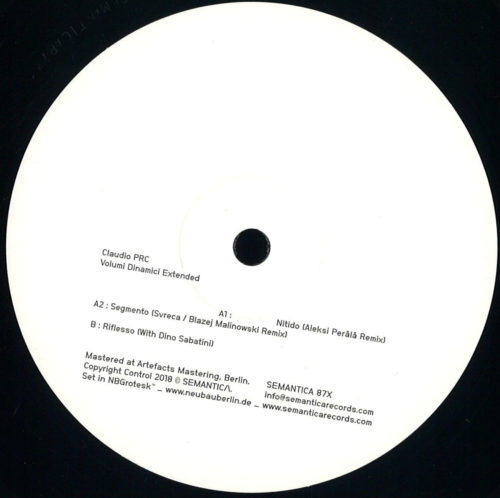 Claudio PRC - Volumi Dinamici Extended - Sem087x - SEMANTICA RECORDS