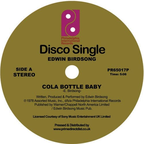 Edwin Birdsong - Cola Bottle Baby - PR65017P - Philadelphia International Records