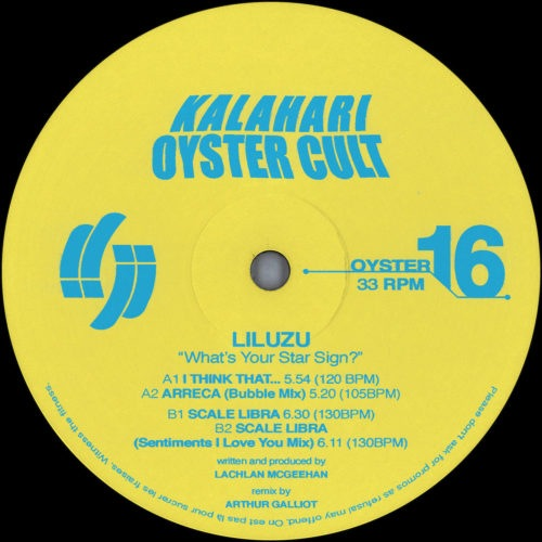 Liluzu - What's Your Star Sign? Ep - OYSTER16 - KALAHARI OYSTER CULT