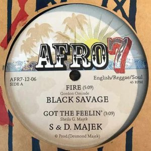 Black Savage/S&D Majek/Ovid - Fire/Got The Feelin'/Karibuni/Operator - AFR7-12-06 - AFRO 7 RECORDS