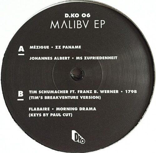 Various - Malibv EP - D-KO06 - D.KO