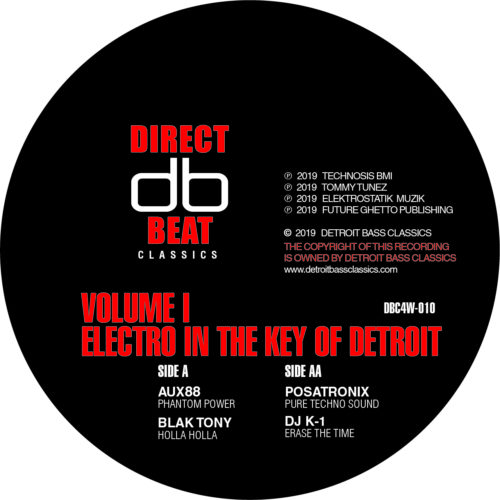 Various - Electro In The Key Of Detroit Vol.1 - DBC4W-010 - DETROIT BASS CLASSICS