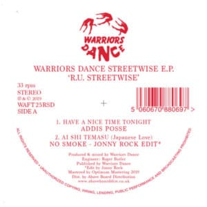 Various - Warriors Dance Ru Streetwise Ep - WAFT25RSD - WARRIORS DANCE
