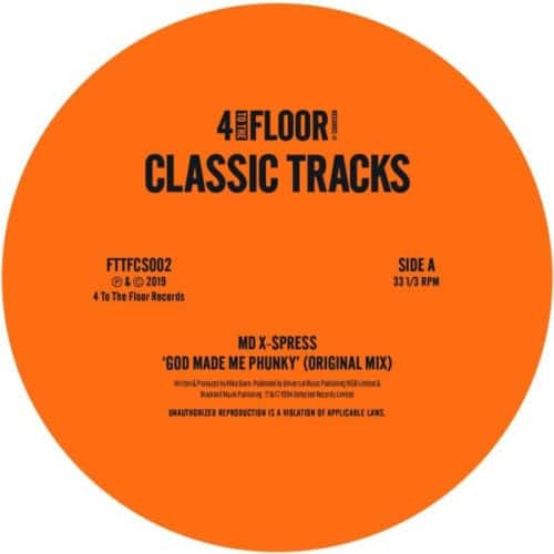 MD X-Spress/Three Kings/Pal Joey - God Made Me Phunky/ Shake Dat Booty - FTTFCS002 - 4 TO THE FLOOR