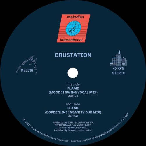 Crustation - Flame (mood Ii Swing Remixes) - MEL016 - MELODIES INTERNATIONAL