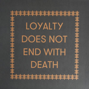 Carl Abrahamsson/Genesis Breyer P-Orridge - Loyalty Does Not End With Death - IDEAL187 - IDEAL RECORDINGS