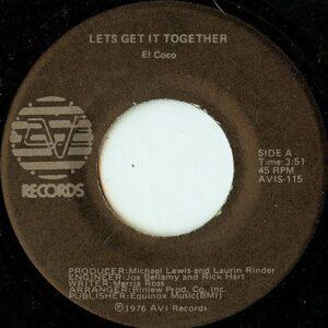 El Coco - Lets Get It Together / Fait Le Chat (Do The Cat) - AVIS-115 - AVI RECORDS 