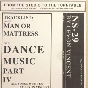 Levon Vincent - Dance Music Pt.4 - NS29 - NOVEL SOUND