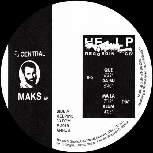 Central - Maks EP - HELP015 - HELP RECORDINGS