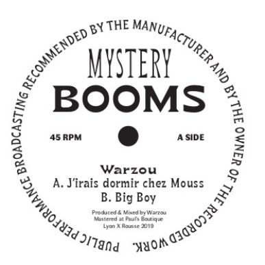Warzou - J'irais dormir chez Mouss - MYSTB002 - MYSTERY BOOMS