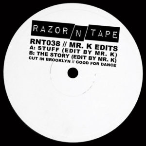 Mr. K/Danny Krivit - Mr. K Edits - RNT038 - RAZOR'N'TAPE