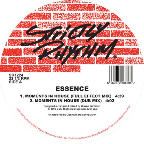 Essence - Moments In House - SR1224 - STRICTLY RHYTHM