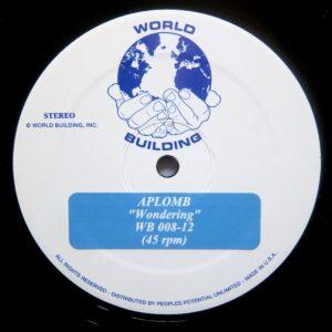 Aplomb - Wondering - WB008 - WORLD BUILDING