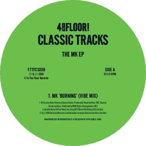 MK - Classics Volume 7 - The MK Ep - FTTFCS008 - 4 TO THE FLOOR