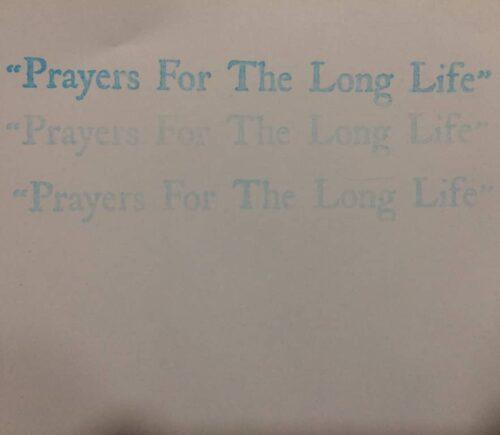 Ideograma - Prayers For The Long Life 05 - PFTLL05 - PRAYERS FOR THE LONG LIFE