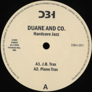 Duane/Co - Hardcore Jazz - DBH-001 - DBH RECORDS