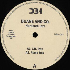 Duane/Co - Hardcore Jazz - DBH-001 - DBH RECORDS