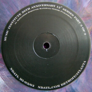Various/Juan Atkins/Alton Miller/Abacus - Music Institute 20th Anniversary 3 Of 3 - NDATL-MI3-3 - NDATL MUZIK