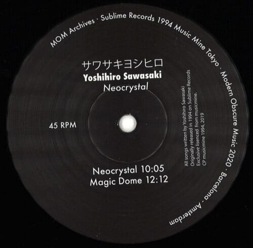 Yoshihiro Sawasaki - Neocrystal - MOMA001 - MODERN OBSCURE MUSIC