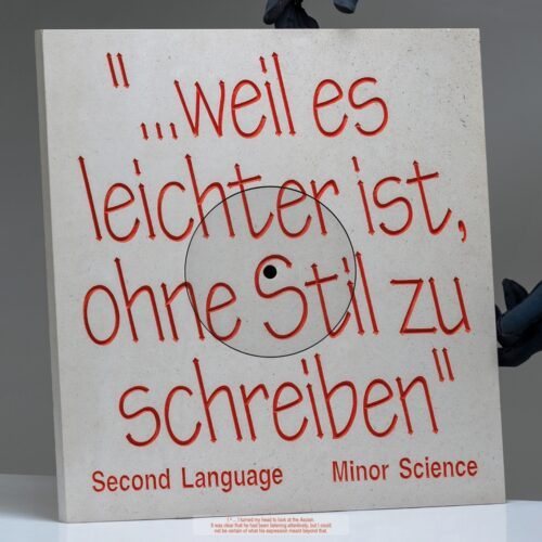 Minor Science - Second Language - WHYT028 - WHITIES