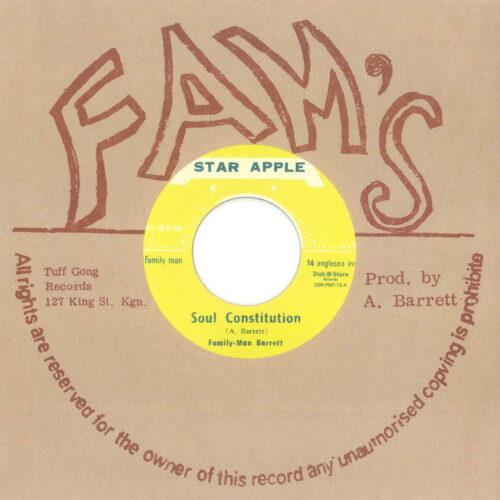Aston 'Family Man' Barrett & Johnny Dizzy Moore - Soul Constitution - DSRFM713 - DUB STORE